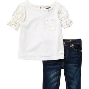 7FAM Outfit Crochet Top and Jeans